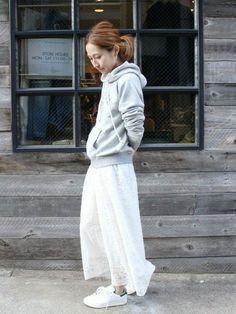 Spick & Span 本社 haruさんのスカート「レース ロングスカート。(FRAMeWORK フレームワーク)」を使ったコーディネート