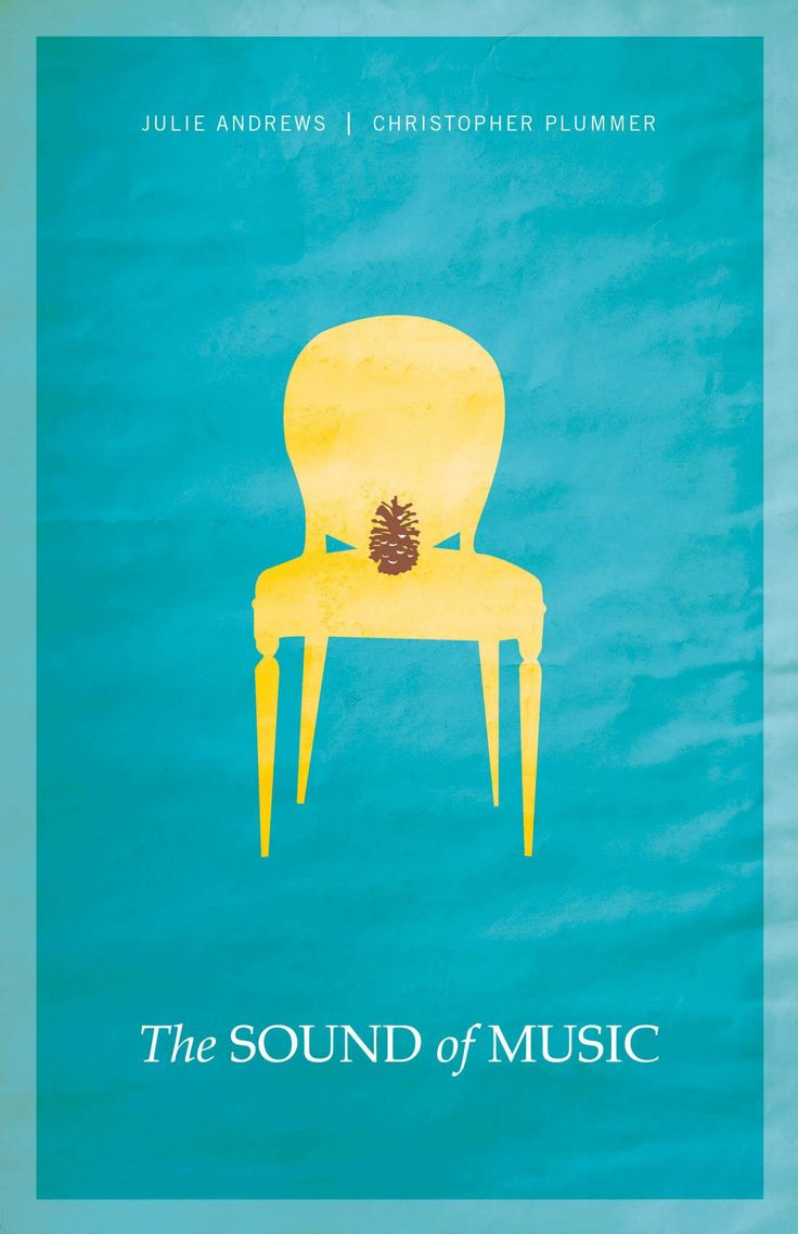 The Sound of Music - minimalistic movie posters  LOL! If you've seen the movie, you will understand the poster.