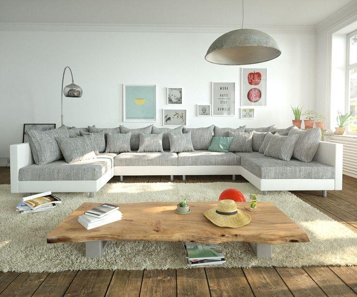 DELIFE Wohnlandschaft Clovis XL Weiss Hellgrau Modulsofa, Design  Wohnlandschaften, Couch Loft, Modulsofa, Modular 10707 10194 0 Online  Kaufen Bei