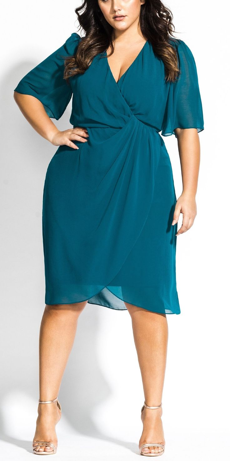 36 Plus Size Wedding Guest Dresses {with Sleeves 11