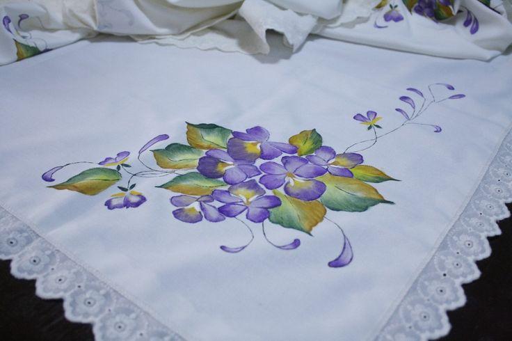 Manteles pintados a mano buscar con google pintura en tela pinterest search and as - Flores de telas hechas a mano ...