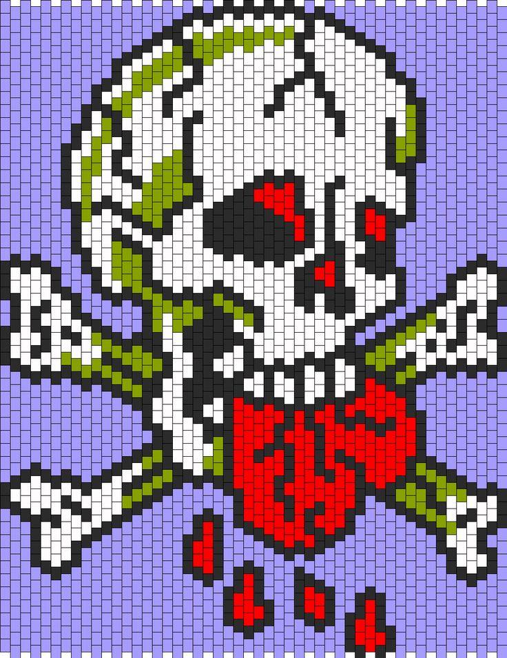 Ed Hardy Love Dies Hard Bead Pattern Perler Beads And