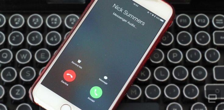 Facebook Messenger calls look like regular calls on iOS 10