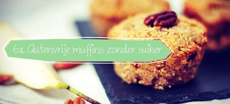 De 6 lekkerste glutenvrije muffinrecepten op een rijtje gezet: voedzame muffins waaraan we geen suiker hebben toegevoegd, glutenvrije muffins die heerlijk smaken!