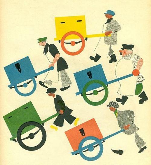 Vladimir Lebedev - Illustration from the Childrens' Book 'Ice Cream' by Samuil Marshak, 1925