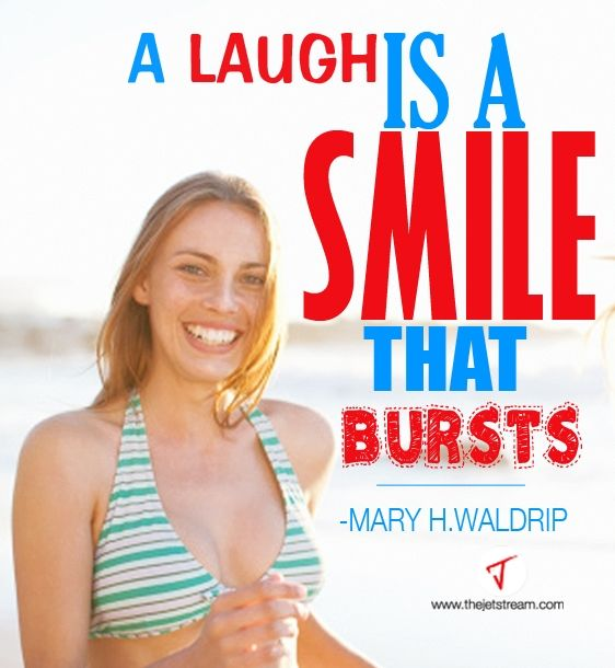A laugh is a smile that bursts. | Julian Pencilliah Inspire #Laugh #Smile #Quotes