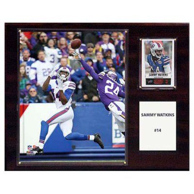 C and I Collectables NFL 15W x 12H in. Sammy Watkins Buffalo Bills Player Plaque - 1215WATKINS
