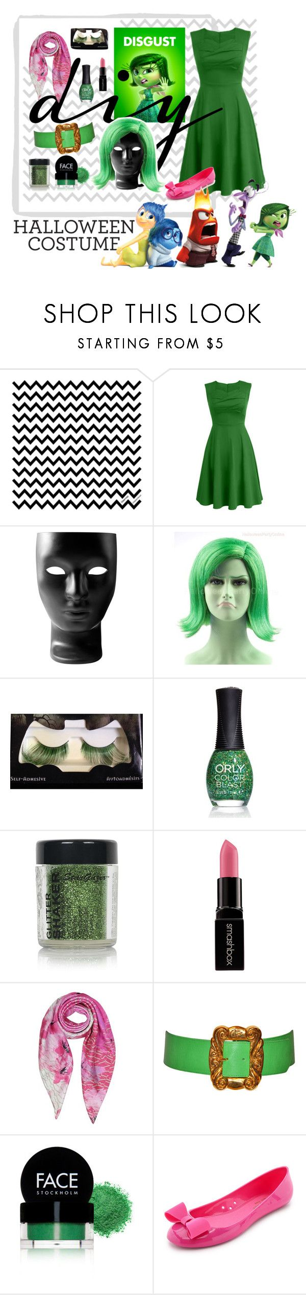 """""""DIY Halloween Costume"""" by jane-pez ❤ liked on Polyvore featuring Driade, Wet n Wild, ORLY, Topshop, Smashbox, Armani Jeans, Christian Lacroix, FACE Stockholm and Kate Spade"""