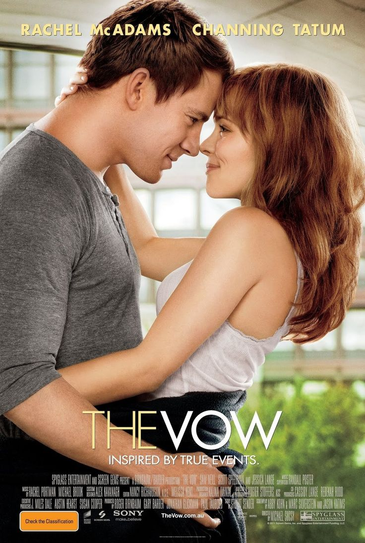 I just watched The Vow. I loved it. It is a tear-jerker and so heart-touching. If you haven't watched it, do. Based on actual events.