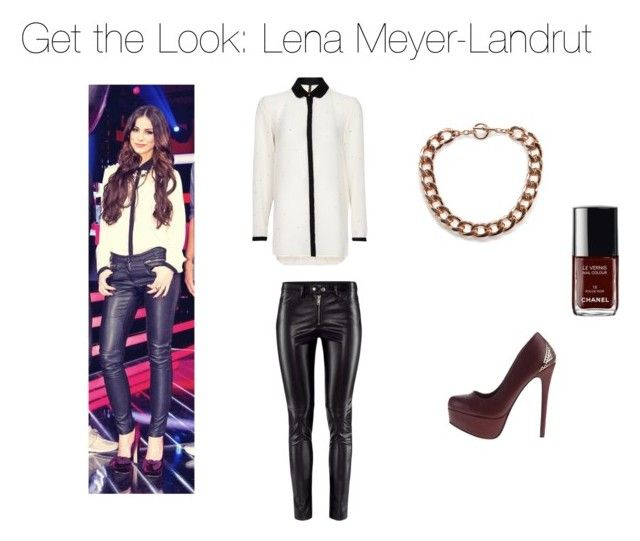 """""""Get the Look: Lena Meyer-Landrut"""" by alexandrab86 ❤ liked on Polyvore featuring H&M, MANGO, Chanel, lena meyer-landrut, the voice kids and get the look"""
