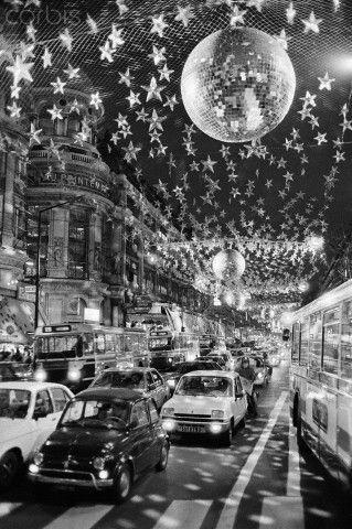 Christmas lights in Paris, 1982