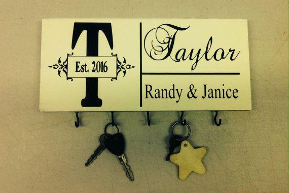 Key Holder Hanging Keys Sign Personalized Key Holder by SignChik