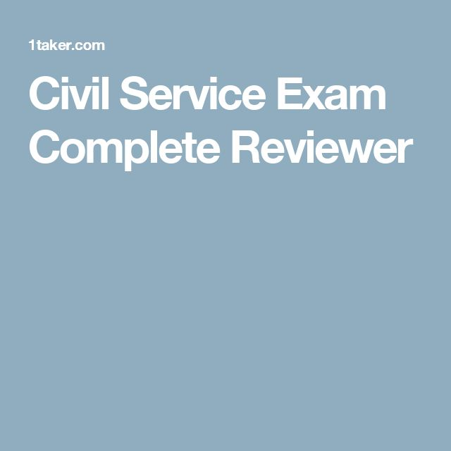 Civil Service Exam Complete Reviewer