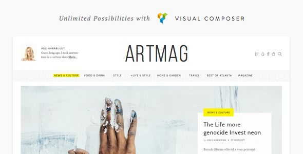 Artmag - Clean WordPress Blog & Magazine Theme