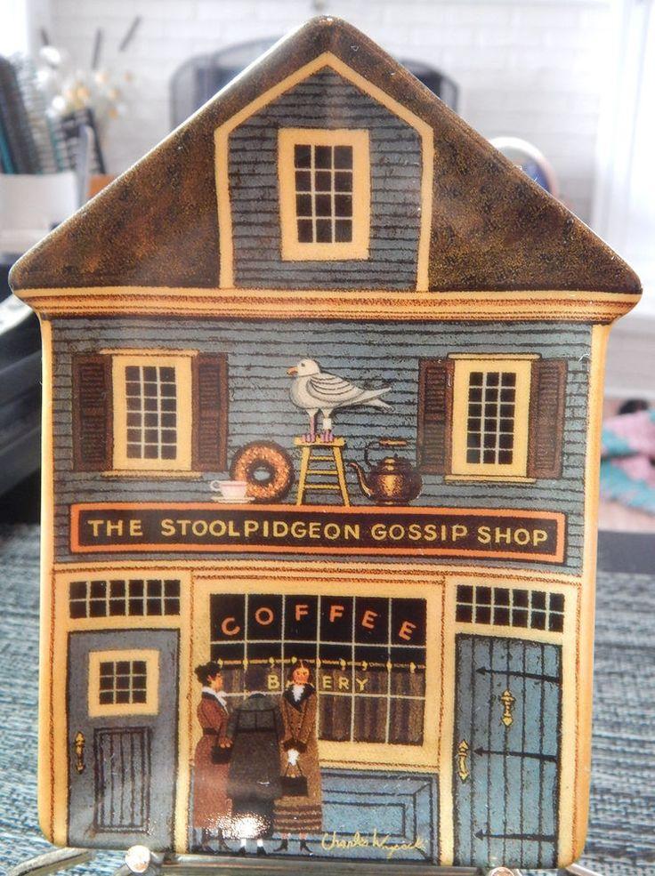 The Stoolpidgeon Gossip Shop Charles Wysocki Folktown Bradford Exchange Plate #6
