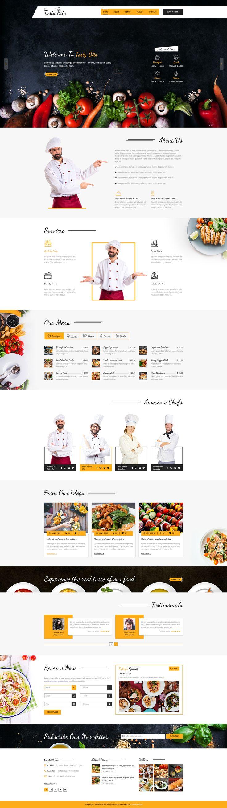 TASTYBITE Food Restaurant PSD Template by dazzlersoft | ThemeForest