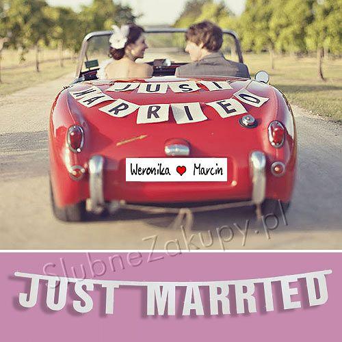 BANER dekoracyjny Just Married 1,7m #slub #wesele #sklepslubny #slubnezakupy #dekoracje