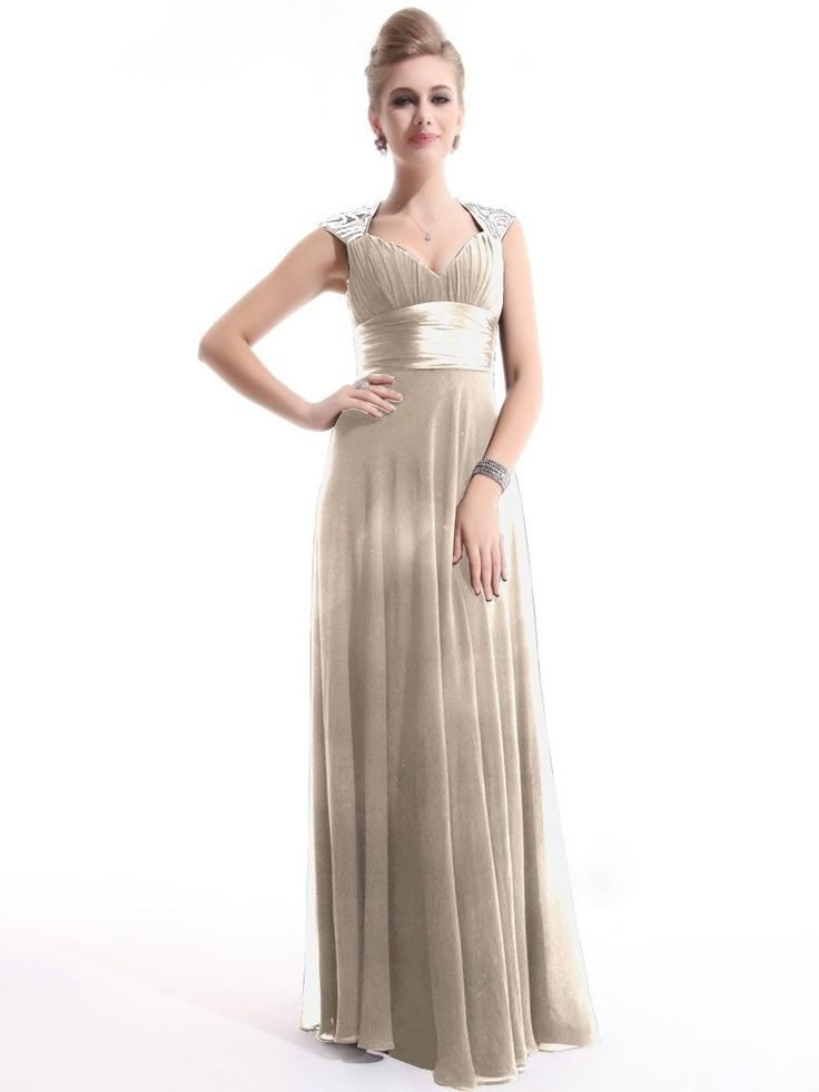 Womens Chiffon Long Ball Formal Bridesmaid Prom Wedding/Evening Gown Dress BNWT | eBay