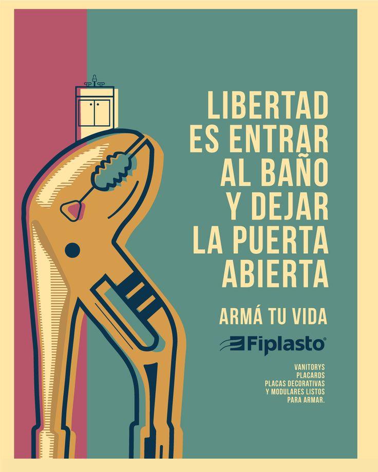 LIBERTAD! FIPLASTO ARMÁ TU VIDA  #libertad #puerta #baño