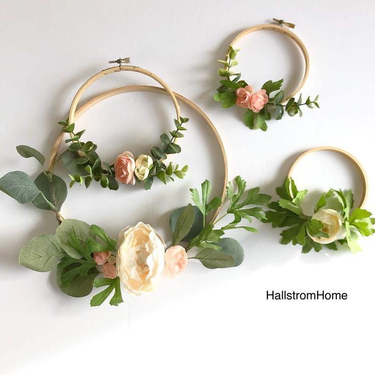 Hallstrom Home Making Hoop Wreaths for Spring