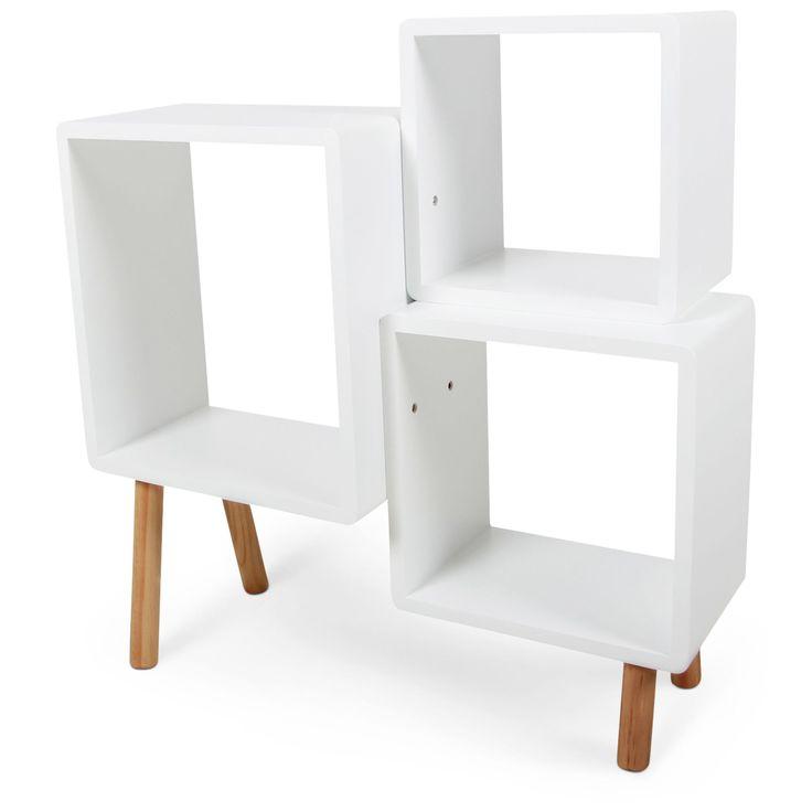 Køb Alice & Fox Cube Reol, Hvid/Natur | Jollyroom