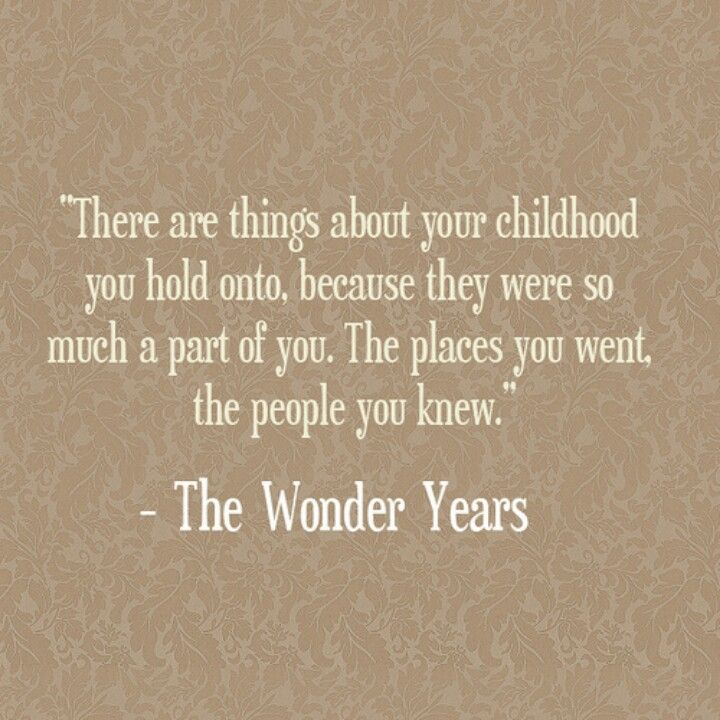 The wonder years quote | 80s Television | Pinterest ...