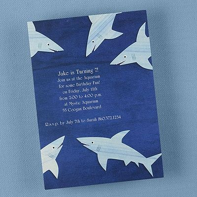 64 best anderson's shark party images on pinterest | shark party, Party invitations