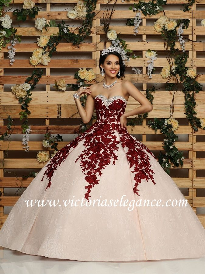 1a3738801e1 Embroidered Lace Ball Gown Q by DaVinci 80420