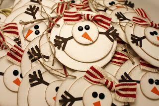 See Julie Stamp - Julie Wadlinger, Stampin' Up! Demonstrator : Snowman Tags
