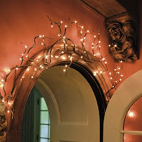 The addition of tiny lights, to a graceful willow branch garland makes for a stunning decorative element. The garland is 6 feet long with 96 led lights and an 16' electrical cord. brbrliDimensio...