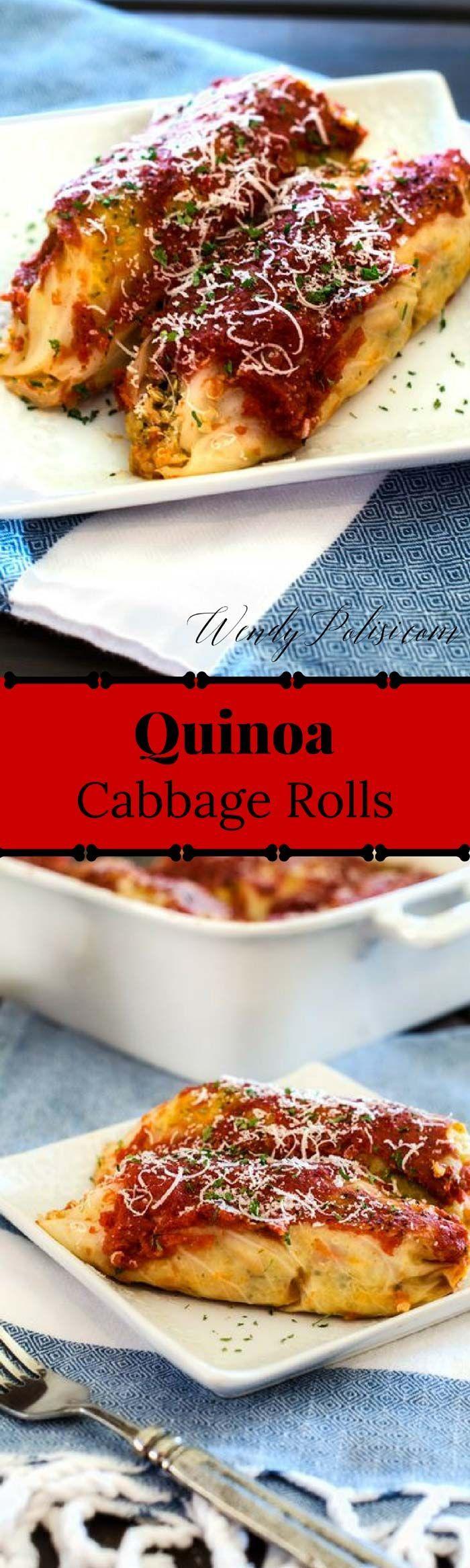 Quinoa Cabbage Rolls via @wendypolisi