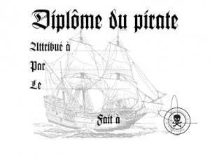 Diplôme du pirate à imprimer - par Madame deux B