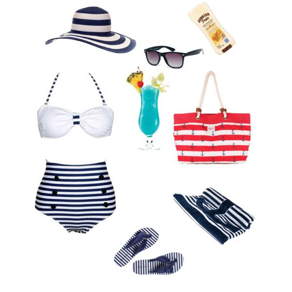 Day by the pool by alison-jane-gairns on Polyvore featuring polyvore, fashion, style, MARBELLA, Brakeburn, ASOS and Hawaiian Tropic