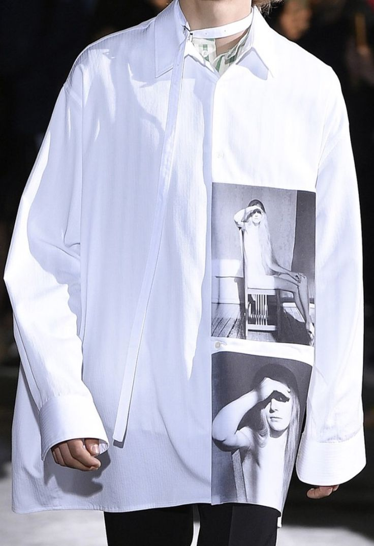 Raf Simons | Spring 2017 | @sqchoi couture mens fashion en trend photo print shirt
