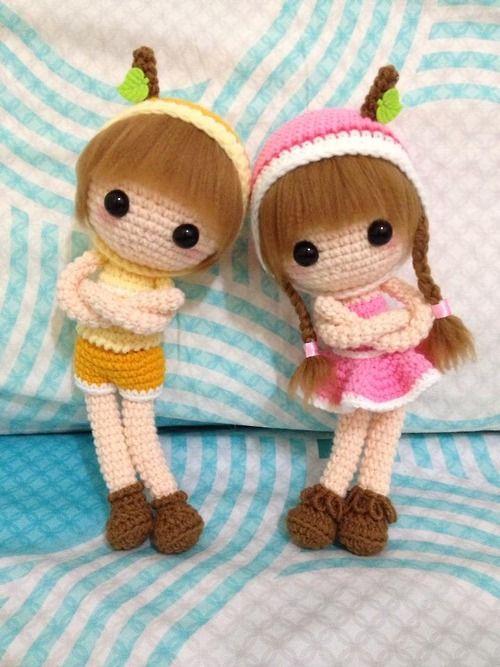 Amigurumi boy and girl dolls. (Inspiration).
