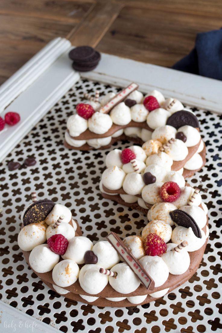Nummer Kuchen 3. Blog Geburtstag   Brief Kuchen – Sahnetorte – Anzahl Kuchen – Ge …   – Blogger Rezepte