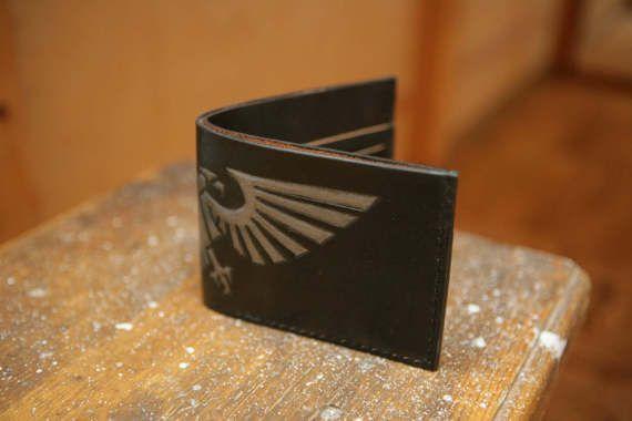 Warhammer 40000 Leather Bifold Wallet  Geek Leather Gift от WildOx