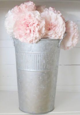 Pink Coffee Filter peonies