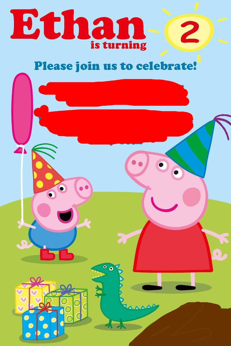 Dorable Peppa Pig Party Invitation Mold - Invitations and ...