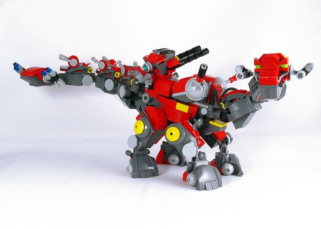 LEGO Dino Battle Fortress! ZOIDS inspired.