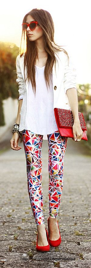 Love the pant.  Cool and Trendy Style Geometric Pattern  #Street_style