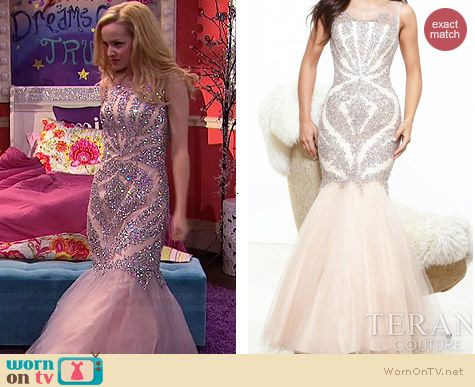 Liv's embellished mermaid gown on Liv and Maddie.  Outfit Details: http://wornontv.net/39099/ #LivandMaddie