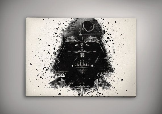 Darth Vader Star Wars  Watercolor Print Poster 11.70 door EpicShoppe