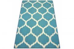 dywan Scandi koniczyna marokańska niebieski