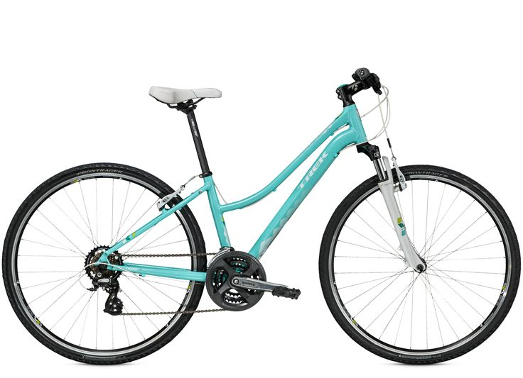 TREK Neko: Neko is a perfect hybrid: part refined women's city bike, part trail ride, with fast 700c wheels, suspension, and a smart frame that's DuoTrap compatible for fitness tracking.
