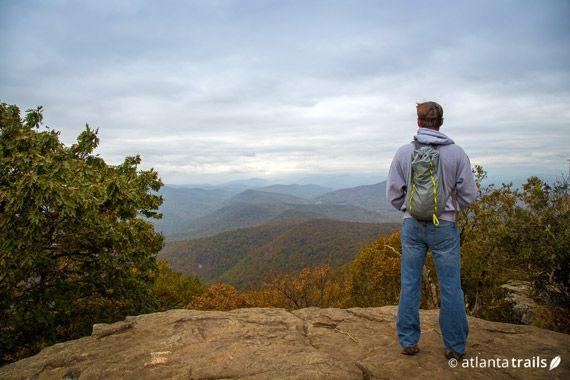 One of our fall faves: hiking the Appalachian Trail to Blood Mountain near Helen, Georgia #hiking #georgia #fall #atlanta