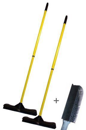 """13.5"""" Broom and Brush Combo by Sweepa. $26.45. If you compare performance of this broom against traditional versions, it will outperform all others for every application. It is easier to use, requires less work to achieve results and will remove more dirt from your floors with each pass. Add to that the fact that this commercial broom is virtually indestructible, and you have a superior tool that will produce great results and remain in like new condition for ..."""