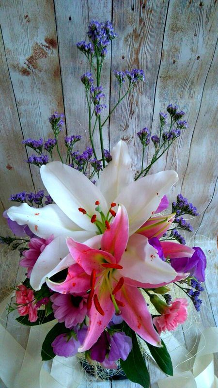 Oriental style Bridal Bouquet by thehappylittlejar on Etsy