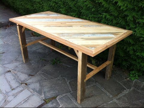 Fabrication d'une table solide en bois de recuperation - Partie 1 - YouTube