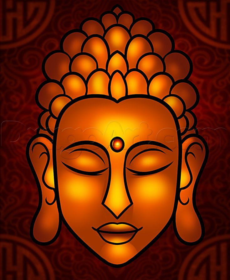 Buddha Face Line Drawing : How to draw buddha easy step by faces people free